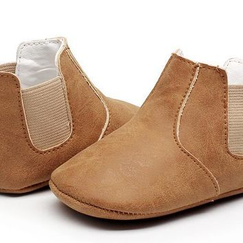 leather baby moccasins shoes soft sole infant booties
