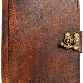 Vintage Style Plain Brown Handmade Leather Amazon Kindle Cover Case For Kindle Touch - Kindle 4 - Kindle 5 - Kindle Paperwhite