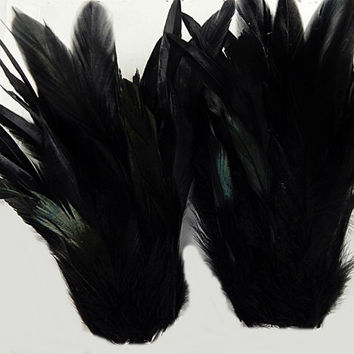 Black Raven Feather Cuffs Gothic Wings Adult Unisex Arm Bands
