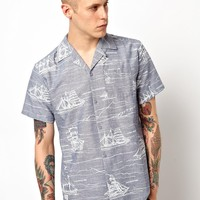 Sitka Shirt With Tall Ships Print