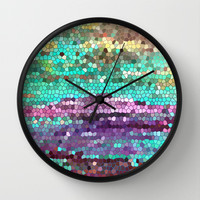 Morning has broken Wall Clock by Catherine Holcombe