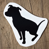 Pitbull Decal, Sticker, I Love My Pitbull, Pibble, Love, Silhouette, Window, Car, Laptop, Cell Phone, Mirror, Computer, Made to Order