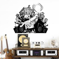 Wall Decal Vinyl Sticker Decals Art Decor Design Music is Life Notes Headphones Pulse Guitar DJ microphone loudspeakers singer M1528