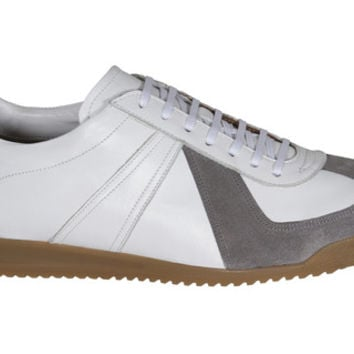 Epaulet Sport Trainer White Leather w/Grey Suede by Epaulet | Epaulet New York