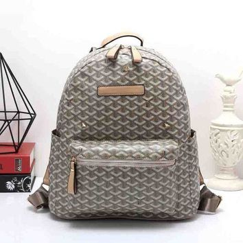 DCCKJ1A Goyard Women Leather Bookbag Shoulder Bag Handbag Backpack  Green