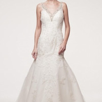 KCW1553 Lace V-Neck Wedding Dress by Kari Chang Eternal