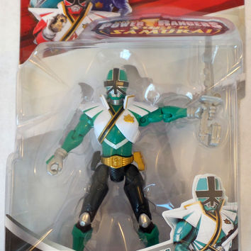 "Power Rangers Super Samurai Super Mega Ranger 4"" Action Figure Forest Green"