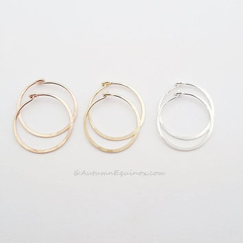 Small Hoop Earrings Sterling Silver Rose Gold