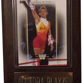 "Alundra Blayze 4"" x 6"" WWE Women's Legend Wrestling Plaque"