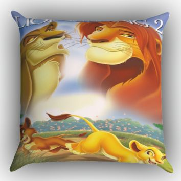 the lion king X0799 Zippered Pillows  Covers 16x16, 18x18, 20x20 Inches