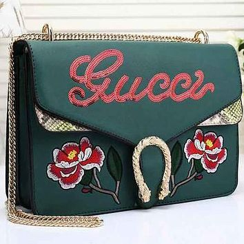 Perfect Gucci Women Leather Multicolor Sequin Satchel Crossbody Shoulder Bag