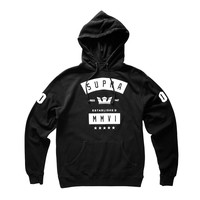 SUPRA Footwear™ | Official Site | BANNER PULLOVER FLEECE | BLACK