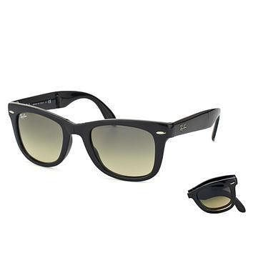 Tagre™ Ray-Ban RB 4105 601-32 54 Men's Crystal Gray Gradient Lens Black Frame Sunglass