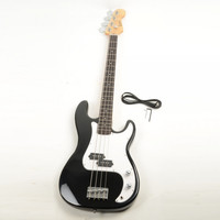 Electric Bass Guitar with Power Wire Tools Black