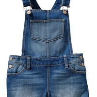 Girls Denim Shortalls