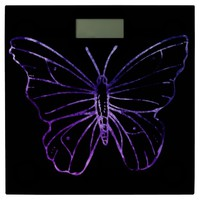 Pretty butterfly black purple Bathroom scale
