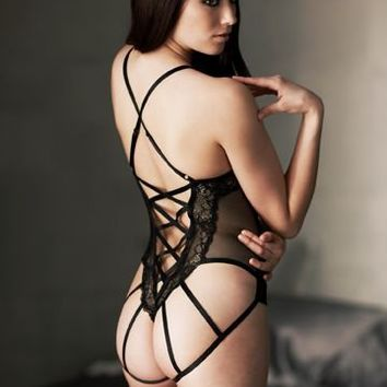 Caged Corset Teddy