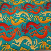 Michael Miller Fabric Kokopelli Fabric Designer Fabric Home Decor Fabric Apparel Fabric Doll Fabric Pillow Fabric Mexican Fabric