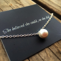 Graduation Gift Motivational Necklace Pearl Necklace (Free shipping to USA)
