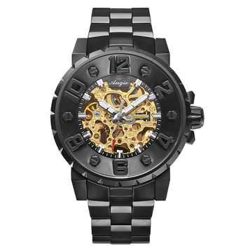 Skeleton Tourbillon Automatic Wrist Watch Sapphire Water Resistant