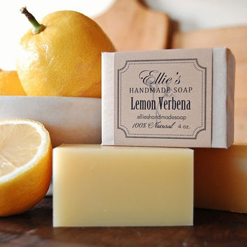 Lemon Verbena Soap - 100% Natural, Cold Process, Olive Oil Handmade Soap