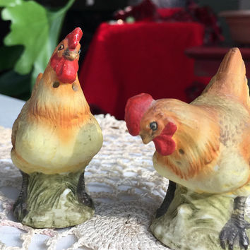 Chicken Salt and Pepper Shaker Set KW2252 Vintage Kitchen Decor