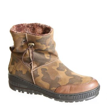 NEW OTBT Women's Weather Boots Fanfare in Mimetic