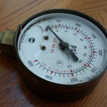 Vintage Industrial Steampunk US Guage Co Guage Decor Piece Altered Art Supply