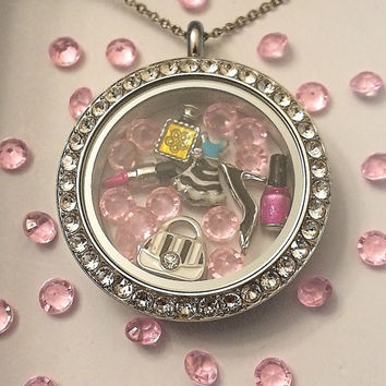 The Girly Girl Locket-Creatively Crafted Floating Lockets-The Copper Closet-FREE Domestic shipping!