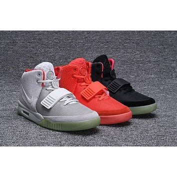 Nike Air Yeezy 2 NRG Kanye West Solar Red/Red October/Pure Platinum 508214-010/508214-660/508214-006