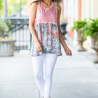 Medallion Of Honor Tank, Baby Pink