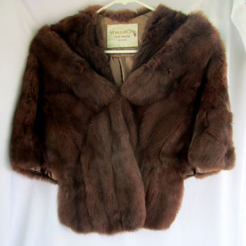 Brown Mink Stole by Shillitos Fur Salon Cincinnati Ohio Vintage Furs Womens Outerwear