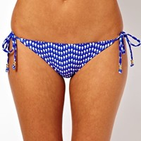 New Look Tassle Print Bikini at asos.com