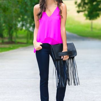 All Eyes On You Hot Pink Top