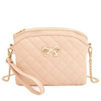 Bow-Topped Quilted Cross-Body Purse by Charlotte Russe