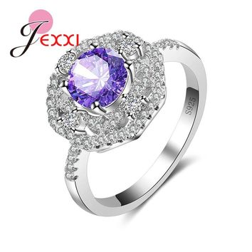 JEXXI Noble Shiny Shiny Ring Geomestric Design 925 Sterling Silver Jewelry Rings Wholesale Top quality For Women Lady.