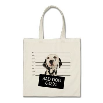 Bad dog tote bag
