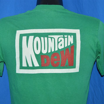 80s Mountain Dew Soda Smoother than Smooth t-shirt Medium