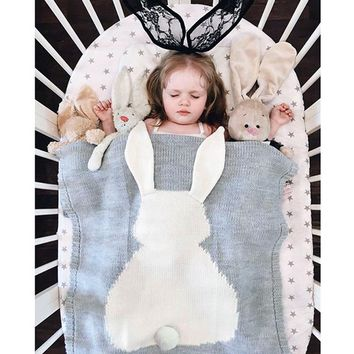 Knitted Bunny Blanket