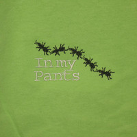 Infant romper Ants in my pants embroidered by KikiCloset on Etsy