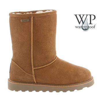 Payton Waterproof Boot by BEARPAW in color Hickory