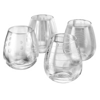 Mikasa Cheers 4-pc. Stemless Wine Glass Set (Clear)