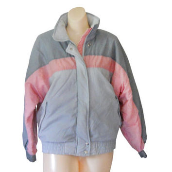 80s Ski Coat 80s Ski Jacket Retro Ski Jacket Puff Coat Puffy Jacket Puffy Coat Puff Jacket Retro Ski Wear Women Winter Jacket Pink Jacket