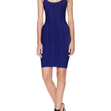 BCBGMAXAZRIA Women's Alysa Knit City Dress - Blue -