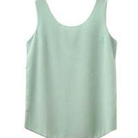 Candy Color Sleeveless Sun-Top Tanks