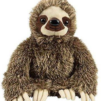 "Wildlife Tree 11.5"" Three-Toed Sloth Stuffed Animal Zoo Plush"