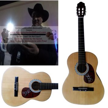 Clint Black Autographed Full Size 39 Inch Country Music Acoustic Guitar, Proof Photo
