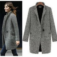 Elegant women winter wool coats plus size grey warm cotton trench laides velvet thick jacket long outdoor overcoat