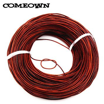 COMEOWN 5meters 1.5mm Vintage Natural Brown Genuine Round Cow Leather Cord fit Necklace Bracelet Jewelry Cords DIY Accessories