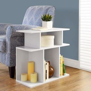 """White 24""""H Accent Side Table"""
